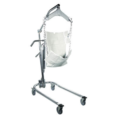Drive Medical Chrome Hydraulic Patient Lift with Six Point Cradle 13023