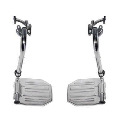 Drive Medical Chrome Swing Away Footrests with Aluminum Footplates Model stdsf-tf