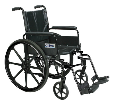 Drive Medical Cirrus IV Lightweight Dual Axle Wheelchair with Adjustable Arms, Detachable Full Arms, Swing Away Footrests, 20 in Seat