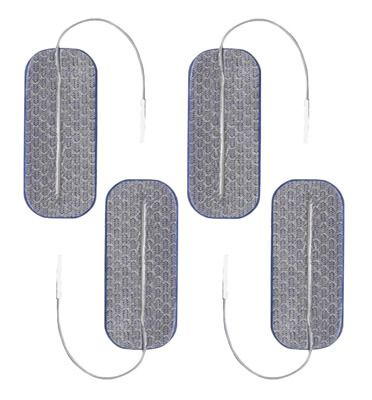 Clearance Axelgaard PALS Blue 1.5 x 3.5 in Square Silver Electrodes - 4 Pads Expires March 2019