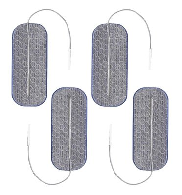 Clearance Axelgaard PALS Blue 1.5 x 3.5 in Square Silver Electrodes - 4 Pads Expires November 2017