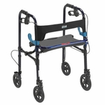 Drive Medical Clever Lite Flame Blue Rollator Walker with 8 inch Casters Model 10243