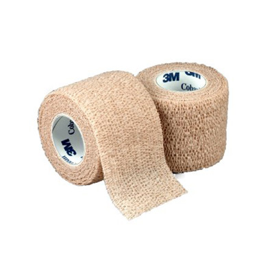 Cohesive Bandage 3M Coban 3 Inch X 5 Yard Standard Compression Self-adherent Closure Tan NonSterile
