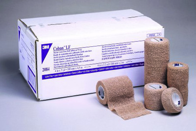 Cohesive Bandage 3M Coban LF 4 Inch X 5 Yard Standard Compression Self-adherent Closure Tan NonSterile