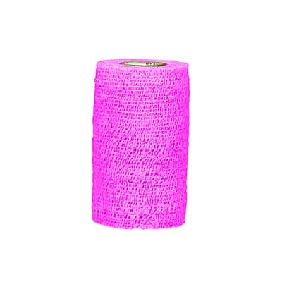 CoFlex Med Cohesive Bandage 2 Inch X 5 Yard Standard Compression Self-adherent Closure Neon Pink NonSterile - Case of 36