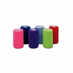 CoFlex LF2 Cohesive Bandage 2 Inch X 5 Yard Standard Compression Self-adherent Closure Neon Pink / Blue / Purple / Light Blue / Neon Green / Red NonSterile - Case of 36