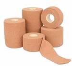 CoFlex LF2 Cohesive Bandage 2 Inch X 5 Yard Standard Compression Self-adherent Closure Tan Sterile - Case of 24
