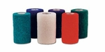 Cohesive Bandage CoFlex NL 1-1/2 Inch X 5 Yard Standard Compression Self-adherent Closure Teal / Blue / White / Purple / Green NonSterile
