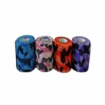 CoFlex NL Cohesive Bandage 2 Inch X 5 Yard Standard Compression Self-adherent Closure Camouflage on Blue / Light Pink / Orange / Purple NonSterile - Case of 36