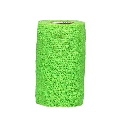 CoFlex NL Cohesive Bandage 2 Inch X 5 Yard Standard Compression Self-adherent Closure Neon Green NonSterile - Case of 36