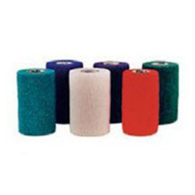 Cohesive Bandage CoFlex NL 3 Inch X 5 Yard Standard Compression Self-adherent Closure Teal / Blue / White / Purple / Red / Green NonSterile