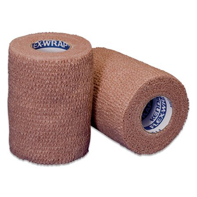 Cohesive Bandage Kendall 1 Inch X 5 Yard Standard Compression Self-adherent Closure Tan NonSterile