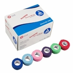 Cohesive Bandage Sensi-Wrap 1 Inch X 5 Yard Standard Compression Self-adherent Closure Red / Green / Purple / Dark Blue / Pink / Light Blue NonSterile