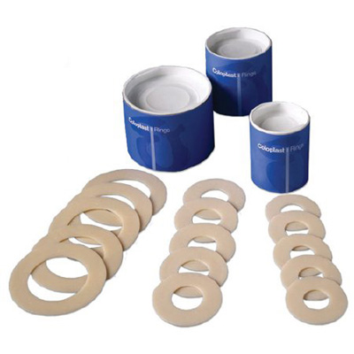 Coloplast Colostomy Barrier Pre-Cut, Standard Wear Microporous Tape Without Flange Not Coded Non-Synthetic Rubber 1-1/8 in Stoma