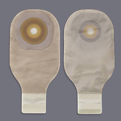 Colostomy Pouch Premier Flextend One-Piece System 12 Inch Length 1-1/2 Inch Stoma Drainable Flat, Pre-Cut