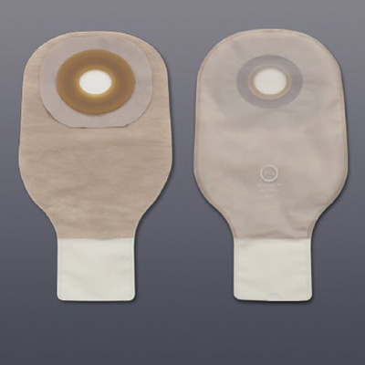 Colostomy Pouch Premier Flextend One-Piece System 12 Inch Length 1 Inch Stoma Drainable Flat, Pre-Cut