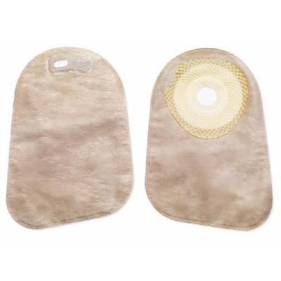 Colostomy Pouch Premier One-Piece System 9 Inch Length 1-3/16 Inch Stoma Closed End Pre-Cut