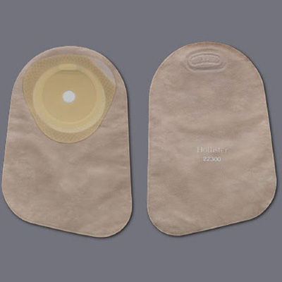 Colostomy Pouch Premier One-Piece System 9 Inch Length 5/8 to 2-1/8 Inch Stoma Closed End Trim To Fit