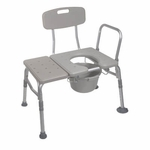 Drive Medical Combination Plastic Transfer Bench with Commode Opening Model 12011kdc-1