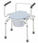 Commode Chair Drop Arm Stainless Steel Frame