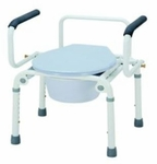 Commode Chair Drop Arm Steel Frame 16.5 to 22.5 Inch