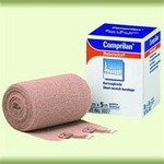 Compression Bandage Comprilan 4-7/10 Inch X 10-9/10 Yard Standard Compression Clip Detached Closure Tan NonSterile