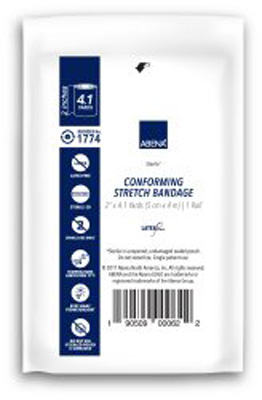 Abena Conforming Bandage 1-Ply 2 Inch X 4.1 Yard Roll Sterile - 1774 - Case of 96