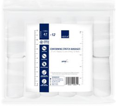 Abena Conforming Bandage 1-Ply 3 Inch X 4.1 Yard Roll NonSterile - 1772 - Case of 96