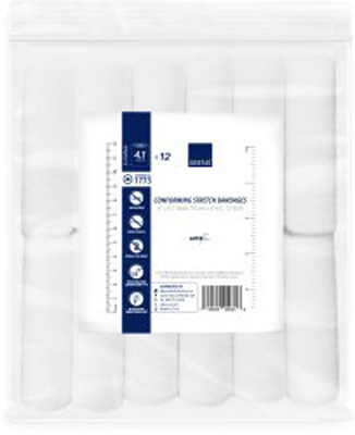 Conforming Bandage Abena 1-Ply 4 Inch X 4.1 Yard Roll NonSterile