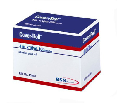 BSN Medical Conforming Bandage Cover-Roll Stretch Nonwoven Polyester 4 Inch X 10 Yard Roll NonSterile - Case of 12