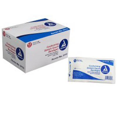 Dynarex Conforming Bandage Polyester 3 Inch X 4-1/10 Yard Roll Sterile - Case of 96