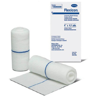 Conforming Bandage Flexicon Polyester 4 Inch X 4.1 Yard Roll Sterile