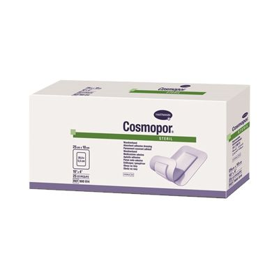 Cosmopor Adhesive Dressing 4 X 10 Inch Nonwoven Rectangle White Sterile - Case of 200