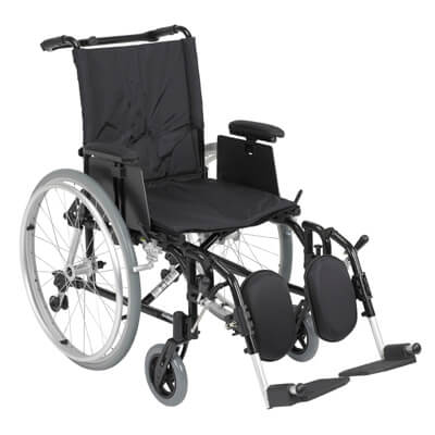 Drive Medical Cougar Ultra Lightweight Rehab Wheelchair with Detachable Adjustable Desk Arms and Elevating Leg Rest ak518ada-aelr
