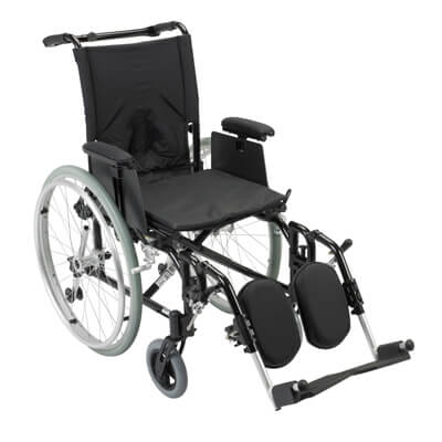 Drive Medical Cougar Ultra Lightweight Rehab Wheelchair with Detachable Adjustable Desk Arms and Elevating Leg Rest ak516ada-aelr