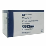 Covidien Monoject Insulin 29 Gauge 1/2 cc 1/2 in - 1 syringe