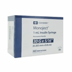 Covidien Monoject Insulin 30 Gauge 1 cc 5/16 in (Model 8881601600)