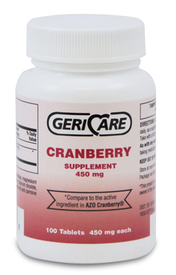 Cranberry Supplement Geri-Care 450 mg Strength Tablet 100 per Bottle