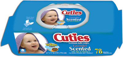 Cuties Baby Wipes, Quilted, Soft Pack, Scented - 936 cs (12x78ea)