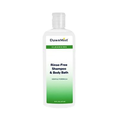 Dawn Mist 16 oz. Rinse-Free Shampoo and Body Wash Squeeze Bottle Scented - Case of 12