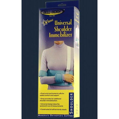 Deluxe Universal Shoulder Immobilizer, Up to 52 in Elastic Hook and Loop Closure