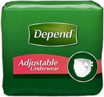 Depend Adjustable Protective Underwear, Small/Medium - 72 cs (4x18ea)