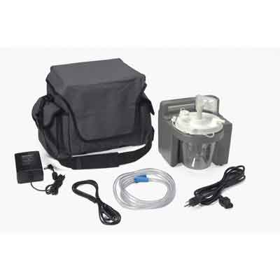DeVilbiss Healthcare 7305 Series Homecare Suction Unit with External Filter, Battery, and Carrying Case 7305p-d-exf