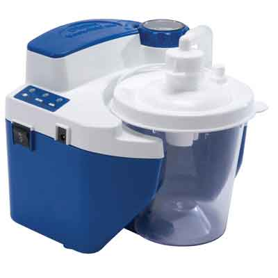 DeVilbiss Healthcare Vacu-Aide QSU Quiet Suction Unit with External Filter, Battery, and Carrying Case 7314p-d-exf