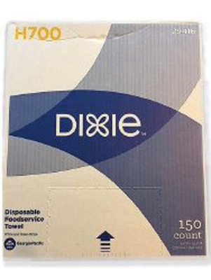 Dixie Foodservice Towel Medium Duty White / Green NonSterile Hydro Entangled Fibers 13 X 23-1/2 Inch Reusable - Case of 15
