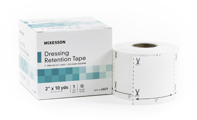 Dressing Retention Tape McKesson NonWoven Fabric / Printed Release Paper 2 Inch X 10 Yard White NonSterile