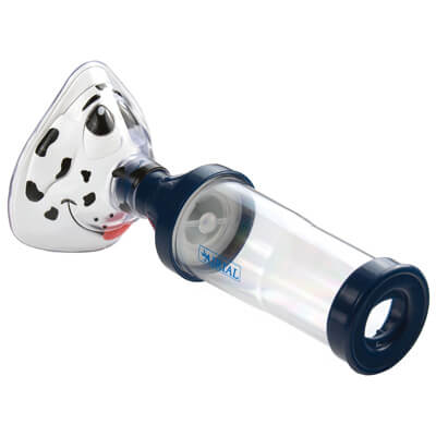 Drive Medical Airial Spotz the Dog Mask with Meter Dose Inhaler Chamber - Model MQ8100