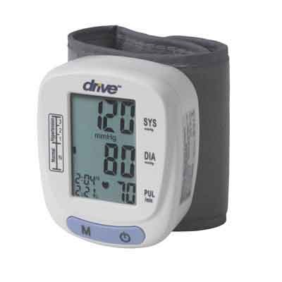 Drive Medical Automatic Blood Pressure Monitor, Wrist Model bp2116