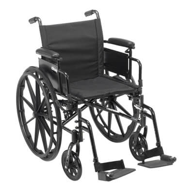 Drive Medical Cruiser X4 Wheelchair with Desk Arms, Swing Away Footrests, 18 in Seat - Model cx418adda-sf