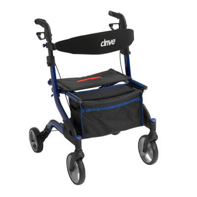 Drive Medical I-Walker Aluminum Rollator, Blue - Model RTL10555BL